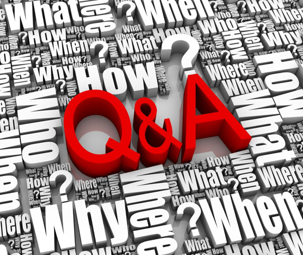 graphic showing questions and answers, introducing page content for alberta family law questions and answers on family law, divorce and separation, custody and support